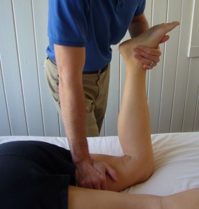 Sports Massage Hamstring Compression